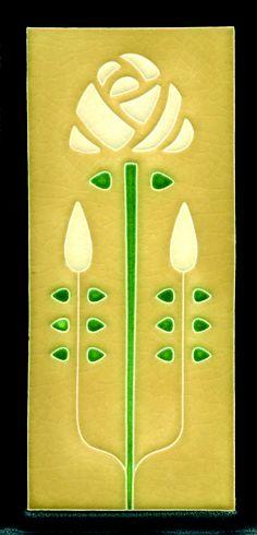 4x8 Longstem in Jade by Motawi Tileworks