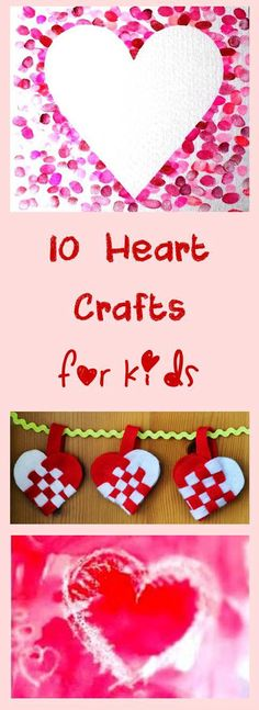 10 Fun Valentines Crafts and Art for Kids More