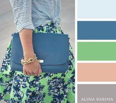 Spring Look Picture Description 20 brilliant color combos for your Colour Combinations Fashion, Fashion Colours, Colorful Fashion, Color Combos, Color Schemes, Pantone Azul, Color Balance, Balance Design, Colour Pallete