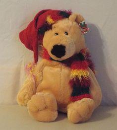Holiday Bear 14 inches Winter Hat Scarf Dan Dee #DanDee