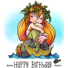 Meeya Happy Birthday Ma, Penny Black Cards, Mo Manning, Birthday Sentiments, Birthday Card Design, Bride Of Frankenstein, Digi Stamps, Cute Images, The Little Mermaid