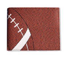 Football Men's Wallet - Football Material - Wallets for Men - Sports - Billfold - Wallet - Men's Wallet - Gift Idea for Guys