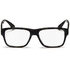 Prada Tortoiseshell acetate square optical glasses (5 150 UAH) ❤ liked on Polyvore featuring men's fashion, men's accessories, men's eyewear, men's eyeglasses and black
