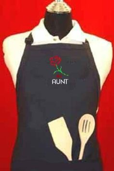 """#1 Aunt"" apron - Blue Embroidered Adjustable W/pockets, Aprons for Women Funny G4FF,http://www.amazon.com/dp/B00FNUQPPQ/ref=cm_sw_r_pi_dp_r3vytb1RF69FYBEH"