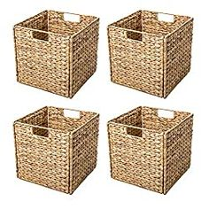 null These beautiful storage baskets fold flat for easy storage when not in use. Made from water hyacinth over an iron wire frame. These will enhance your decor while being a useful place to store towels, books, magazines or any number of household items. Seagrass Storage Baskets, Rattan Basket, Fabric Basket, Storage Bins, Storage Containers, Easy Storage, Baskets For Storage, Closet Storage, Affordable Storage