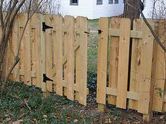 How to build a small gate for a backyard fence.