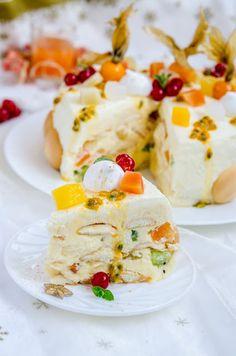 Tort diplomat cu fructe tropicale - Din secretele bucătăriei chinezești Romanian Desserts, Coffee Cake, Sweet Treats, Tropical, Cakes, Breakfast, Blog, Drinks, Cake