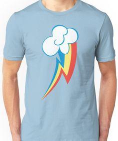 Rainbow Dash Cutie Mark (Large icon) - My Little Pony Friendship is Magic Unisex T-Shirt