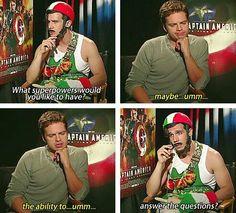 Captain Italy and Sebastian Stan XD