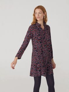 Decorated in colourful animal print, the Pop Leopard Shirt Dress from Nice Things is an easy option for Autumn. Mauve, Short Shirt Dress, Leopard Shirt, Colorful Animals, Opaque Tights, Short Shirts, Looks Great, Dressing, Tunic Tops