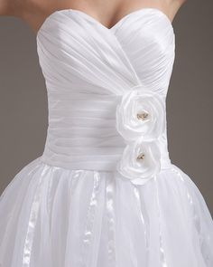 Elegant Strapless Short Wedding Dress,#izidresses