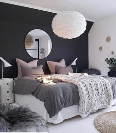 Black, white and blush pink