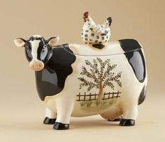 Country Cow Cookie Jar $25.00