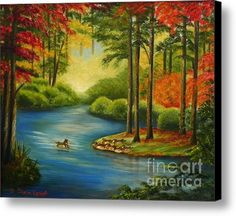 Buy a 20.00 x 16.00 stretched canvas print of Shelia Kempf's Autumn Lake for $75.00.  Only 9 prints remaining.  Offer expires on 09/26/2014.
