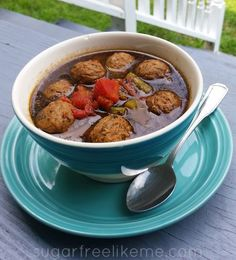 Low Carb Italian Meatball Soup #coupon code nicesup123 gets 25% off at Provestra.com Skinception.com
