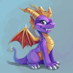 I am so excited to see Spyro again! Dragon Ball, Dragon Z, Spyro The Dragon, Dragon Games, Spyro And Cynder, Nostalgia, Character Design Animation, Geek Girls, Game Character