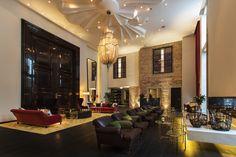 Lobby Interior Design - Hotel Zoo in Berlin, Germany Lobby Lounge, Hotel Lobby, Design Hotel, Pantone, Berlin Hotel, Power Trip, Hotel Restaurant, Unique Hotels, Luxury Hotels
