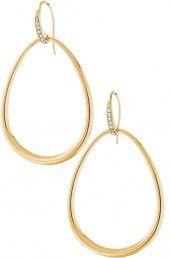 Goddess teardrop earrings