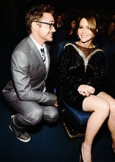 Jennifer Lawrence and Robert Downey Jr