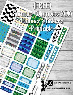 {FREE} Summer Games 2016 Planner Printable