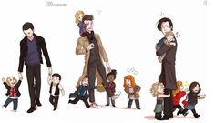 The Doctor and his toddler companions