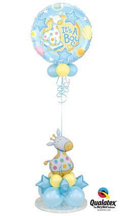 Adorable #giraffe balloon delivery for a baby boy.