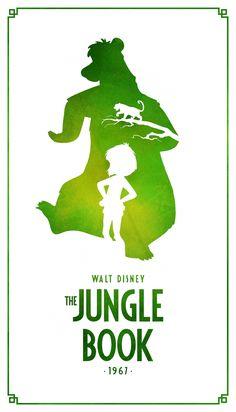 Jungle Book Classic Disney Movie Posters - Created by Keith Bogan Disney Movie Posters, Film Disney, Disney Art, Minimalista Disney, Poster Minimalista, The Jungle Book, Disney Fantasy, Disney And Dreamworks, Disney Pixar
