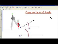 Copy an Acute Angle - YouTube