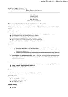 high school student resume template word google search sample resume for graduate school