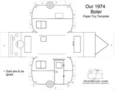 Boler Trailer Paper Toy Template