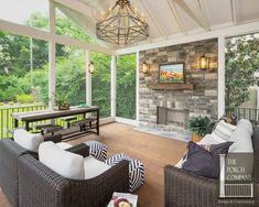screened porch fireplace outdoor fireplace green guys chesterfield ... - Screened In Patio Decorating Ideas