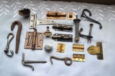Vintage Antique Junk Drawer Lot Mixed Metal Hardware & Parts Most Dug!