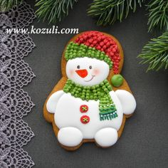 Cookies Royal Icing Christmas Recipes For 33 Ideas Christmas Cookies Packaging, Christmas Sugar Cookies, Christmas Snacks, Christmas Cooking, Noel Christmas, Christmas Goodies, Holiday Cookies, Christmas Recipes, Snowman Cookies