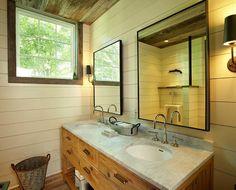 farmhouse bathroom by Kelly  Co.
