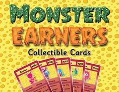 INTRODUCING... Monster Earners Collectible Cards - a new behaviour and classroom…