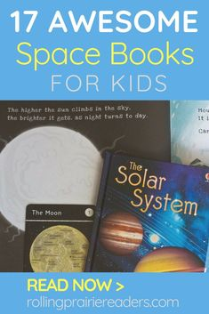 Learning morea bout the solar system? Here are 17 awesome space books that will excite and engage your kids! Space Books For Kids, Space Activities For Kids, Books For Boys, Learning Activities, Kids Learning, Teaching Resources, Science Books, Science Lessons, Teaching Science