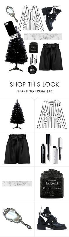 """black and white"" by nsurmenova ❤ liked on Polyvore featuring Boohoo, Bobbi Brown Cosmetics, NYX, Balenciaga and Pantone Universe"