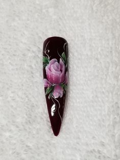 One Stroke Gel Painted with Akzentz Gel Play Paint see link for online class on how to paint Gel Nail Art, Gel Nails, Private Facebook, One Stroke, Paint, Play, This Or That Questions, Picture Walls, Paintings