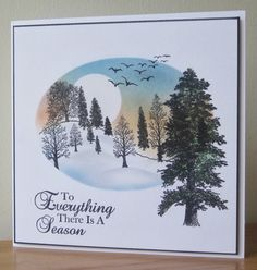 Floral Fantasies: Pan Pastels and trees to start the New Year Christmas Tree Cards, Stamping Up, Nature Scenes, Pastels, Projects To Try, Trees, Tapestry, Colouring, Fantasy