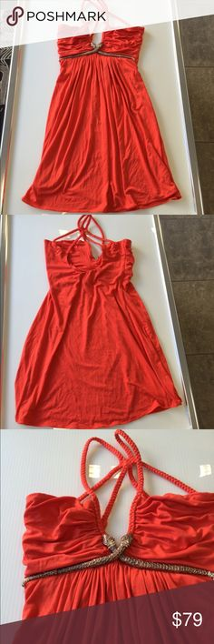 Sky orange snake summer dress small medium large Sky orange snake summer dress sizes small medium & large available..new without tags Sky Dresses Mini