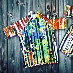 """Looks like @klctvefusion stone cold crushed the collage kits! ・・・ KLCTVE """"Collage"""" jerseys have arrived. Inspired by test prints and Coogi sweaters. Another pre-order round soon. #cycling"""