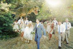 wedding party dinosaur napa valley neutral rustic