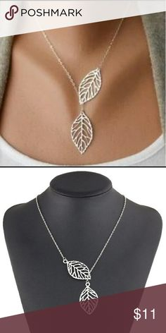 Leaf lariat necklace Leaf lariat necklace, golden colored Jewelry Necklaces