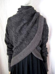 WORTHWHILE gray draped sweater  #minimalist #fashion