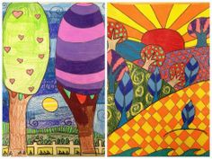 For the Love of Art: 5th Grade Folk Art Landscapes