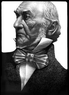 William Gladstone (Scratchboard medium) by Mark Summers