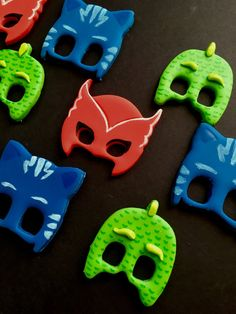 Edible Dozen of PJ Masks themed fondant cupcake toppers 12 4th Birthday Cakes, 5th Birthday Party Ideas, Boy Birthday, Pj Masks Cupcake Toppers, Pj Mask Cupcakes, Biscotti, Festa Pj Masks, Character Cakes, Birthday Numbers