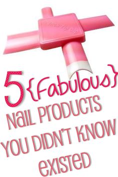 5+Nail+Products+You+Didn't+Know+Existed Get Nails, Love Nails, How To Do Nails, Pretty Nails, Hair And Nails, Style Nails, Beauty Nails, Diy Beauty, Beauty Magic