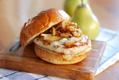 Roasted Pear & Gorgonzola Turkey Burger
