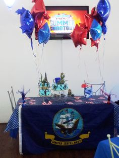 Cake Table, boot camp going away party